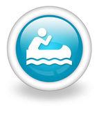 Icon, Button, Pictogram Canoeing — Stock Photo