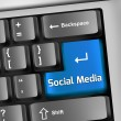 Keyboard Illustration Social Media — Stock Photo #45044007