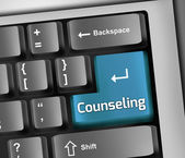 Keyboard Illustration Counseling — Stock Photo