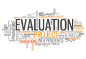 Word Cloud Evaluation — Stock Photo