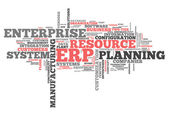 Word Cloud Enterprise Resource Planning — Stock Photo