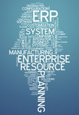 Word Cloud Enterprise Resource Planning — Stock Photo