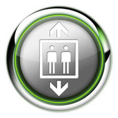Icon, Button, Pictogram Elevator, Lift — Stock Photo