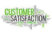 Word Cloud Customer Satisfaction — Stock Photo