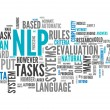 Word Cloud NLP — Stock Photo