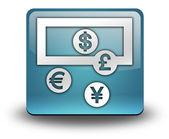 アイコン、ボタン、ピクトグラム外貨両替 — ストック写真