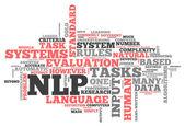 Word Cloud NLP — Stockfoto