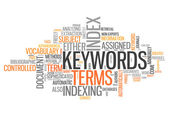 Word Cloud Keywords — Stock Photo