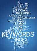 Word Cloud Keywords — Stock Photo