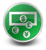 Ikona przycisku, piktogram kantor wymiany walut — Zdjęcie stockowe