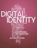 Word Cloud Digital Identity — Stock Photo