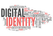 Word Cloud Digital Identity — Stock Photo