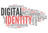 Word Cloud Digital Identity — Foto de Stock