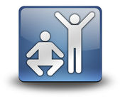 Icon, Button, Pictogram Exercise, Fitness — Stock Photo