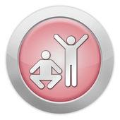 ícone de botão, exercício de pictograma, fitness — Fotografia Stock