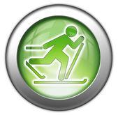 Simge, düğme, piktogram kayaklı koşu — Stok fotoğraf