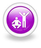 Icon, Button, Pictogram Exercise, Fitness — Stock Photo