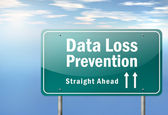 Highway Signpost Data Loss Prevention — Stock Photo