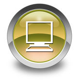 Icon, Button, Pictogram Desktop Computer — Stock Photo