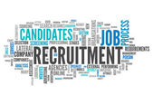 Word Cloud Recruitment — Stock Photo