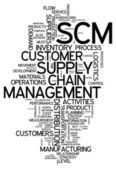 Word Cloud Supply Chain Management — Stock Photo