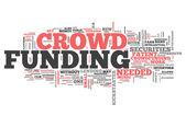 Word Cloud Crowd Funding — Stock Photo