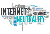 Word Cloud Internet Neutrality — Stock Photo