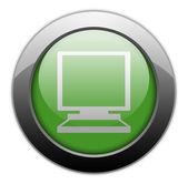 Icon, Button, Pictogram Desktop Computer — Stock Photo