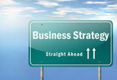 Highway Signpost Business Strategy — Stock Photo