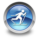Icon, Button, Pictogram Cross-Country Skiing — Zdjęcie stockowe