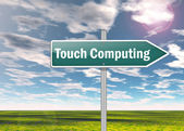 Signpost Touch Computing — Stock Photo