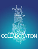 Word Cloud Collaboration — Stock Photo