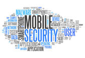 Word Cloud Mobile Security — Stock Photo