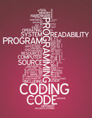 Word Cloud Coding — Foto de Stock