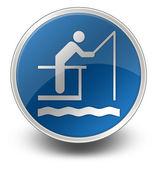 Icon, Button, Pictogram Fishing Pier — Stock Photo