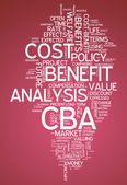 Word Cloud Cost-Benefit Analysis — Stock Photo