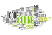 Word Cloud Coding — Stockfoto