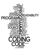 Word Cloud Coding — Foto Stock