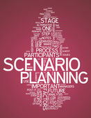 Word Cloud Scenario Planning — Stock Photo