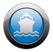 Icon, Button, Pictogram Ship, Water Transportation — Stock Photo