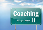 Highway Signpost Coaching — Stock Photo