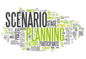 Word Cloud Scenario Planning — Stok fotoğraf