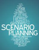 Word Cloud Scenario Planning — Stock Photo