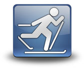 Icon, Button, Pictogram Cross-Country Skiing — Stock Photo