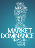 Word Cloud Market Dominance — Stock Photo