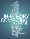 Word Cloud In-Memory Computing — Stock Photo