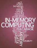 Word Cloud In-Memory Computing — Stock Photo