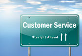 Highway Signpost Customer Satisfaction — Stockfoto