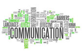 Word Cloud Communication — Stockfoto