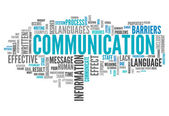 Word Cloud Communication — Stock Photo